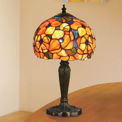 Josette Small Table Lamp (Nature, Traditional, Small Table Lamp) TV38ST (Tiffany style)